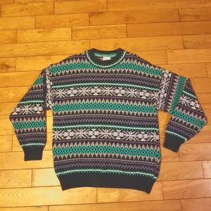 Vintage Cotton Ginny Fair Isle Knitted Cotton Nordic Sweater